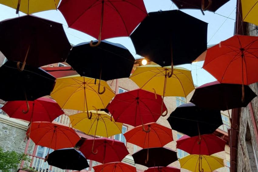 Paraplyer, illustrasjon